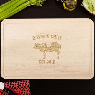 Grandiose Branded Grill Wood Cutting Board