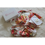 """Beautiful And Comfy Floral Bridesmaid's Satin Robe<br><div class=""""desc"""">These robes make the perfect gift for all occasions and can be customized with any text. The robes come with the option to have a matching personalized magnetic gift box which makes a lovely keepsake. Available in 3 different sizes and 5 different colors, you're sure to find the perfect robe....</div>"""
