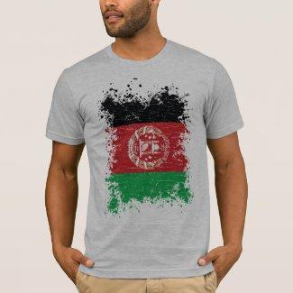 Afghanistan Grunge Flag T-Shirt