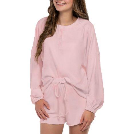Light Pink Long Sleeve Pajama Set