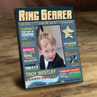 Personalized Ring Bearer Magazine Frame Picture Frame
