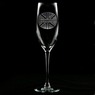 Union Jack Personalized Champagne Flute
