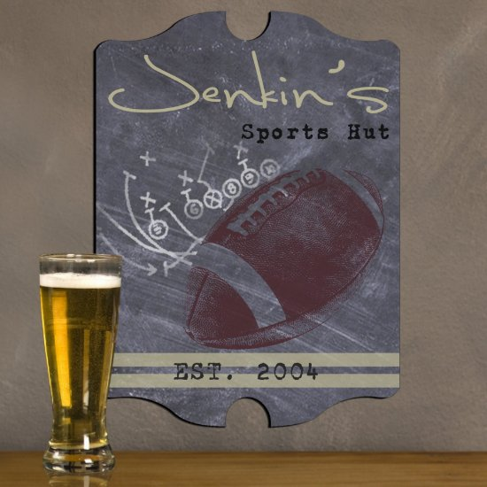 Personalized Man Cave Bar Signs - Football