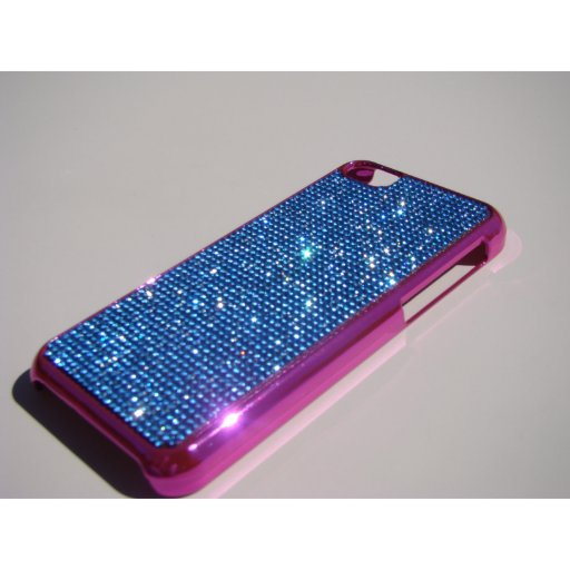 iPhone 5C Pink Chrome Case - Blue Sapphire