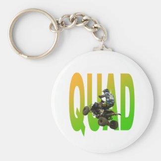 quad bike basic round button keychain