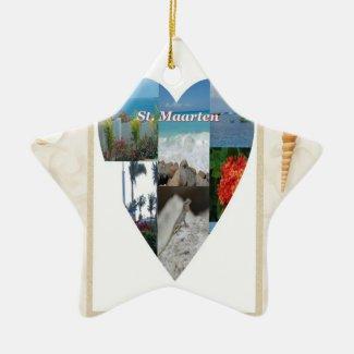 I Heart St. Maarten Ornament