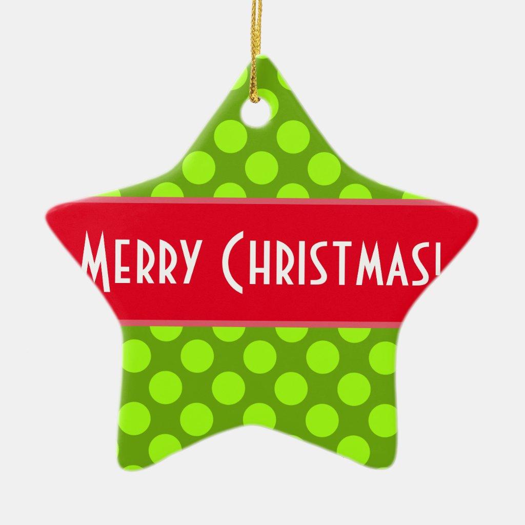 Merry Christmas Custom Ornament