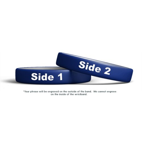 Cool and Classic Engraved Rubber Wristband