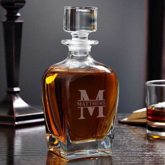 Oakmont Monogram Draper Whiskey Decanter