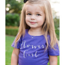 Adorable Flower Girl Bridal Party Wedding T-Shirt