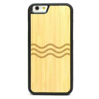 Caja de bambú grabada del iPhone 6 - la medianoche