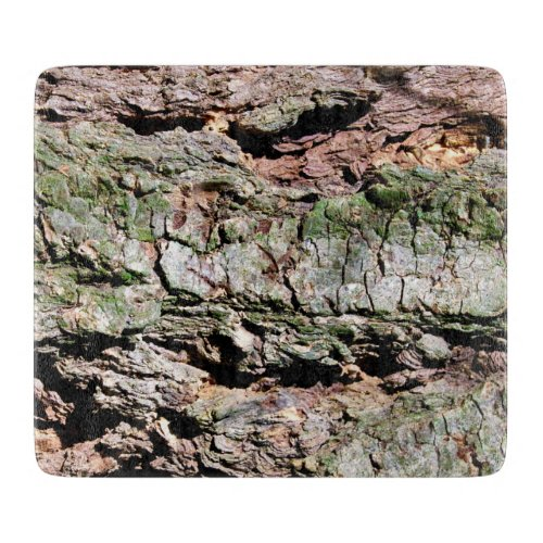 Cutting Board with Tree Bark Photo