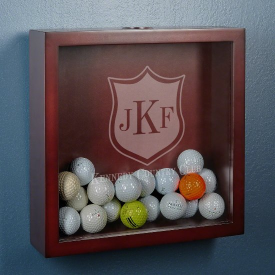 Country Club Crest Golf Ball Display Case