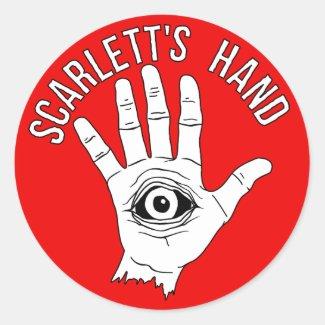 Scarlett's Hand Round Sticker