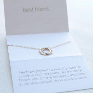 Interlocking Silver Best Friend Necklace