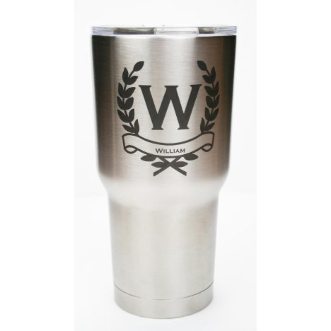 30oz. Stainless Steel Personalized Tumbler