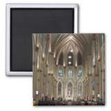 Cathedral-Arches & Glass - Guayaquil, Ecuador 2 Inch Square Magnet