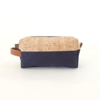 Cork Dash and Navy Canvas Dopp Kit