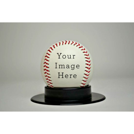 Synthetic Leather Signature Baseball w/Stand