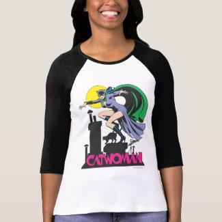 Catwoman & Logo Pink T-Shirt