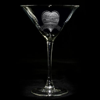 Vidrio personalizado la mejor mamá de Martini