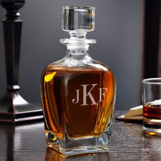 Draper Classic Monogram Whiskey Decanter