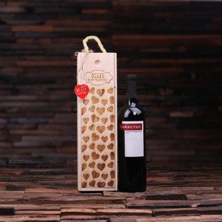 Personalized Valentine's Day Wood Wine Box
