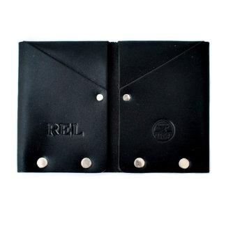 Original Hammer Riveted Men's Black Leather Wallet