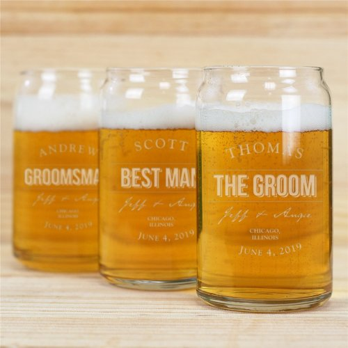 Swell Engraved 16 oz. Can-Shaped Beer Glass