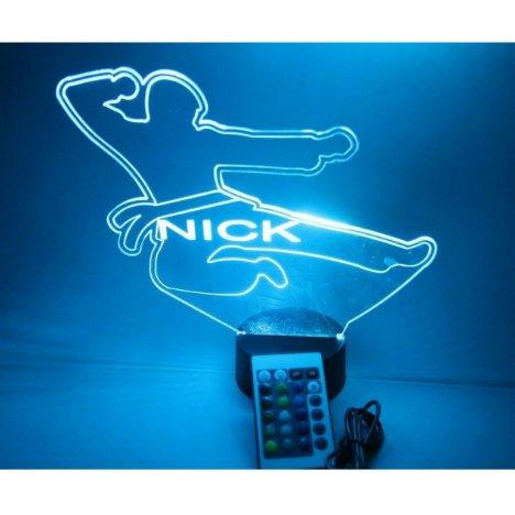Karate Night Light Lamp LED Personalized & Remote