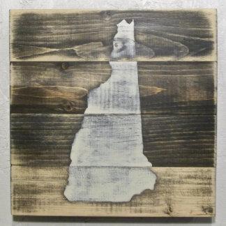 10x10 apenó el mapa de madera de New Hampshire