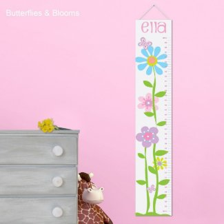 Child's Growth Charts - Butterflies & Blooms
