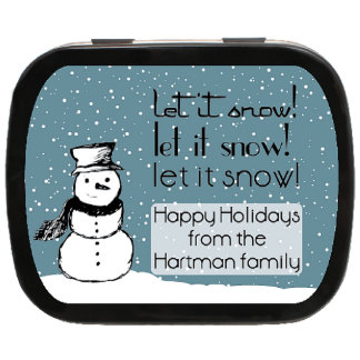 Let It Snow Personalized Christmas Tins