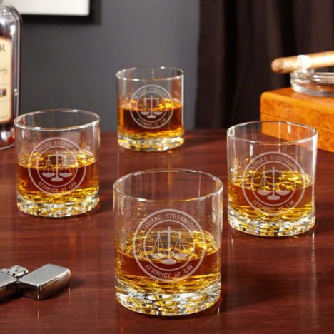 Scales of Justice Buckman Whiskey Glasses