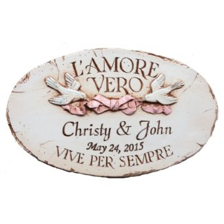 Personalized 14x9 Italian Wedding Plaque