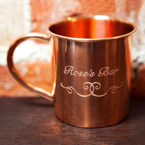 Personalized copper coffee mug