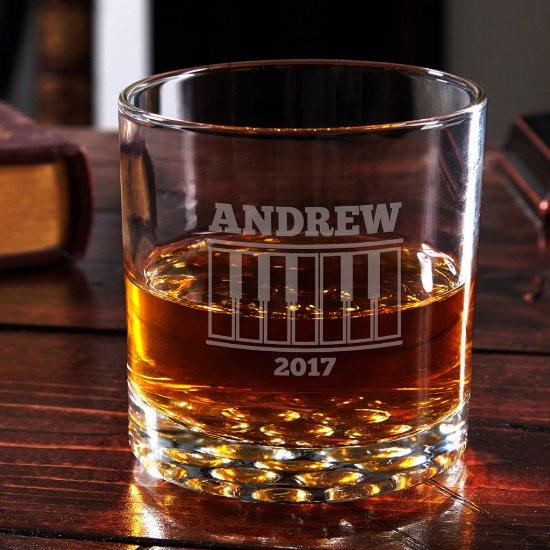Engraved Grand Piano Buckman Whiskey Glass