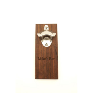 Wood and Stainless Steel Magnetic Bottle Opener