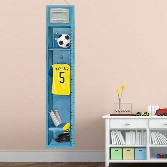 Personalized Sports Locker Growth Chart - Soccer