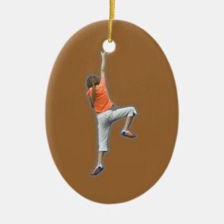 Sport Climbing Ceramic Ornament