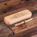 Personalized Wood Engraved Desktop Pen Set