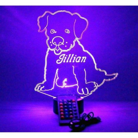 Puppy Dog Night Light Up Lamp LED Personalized