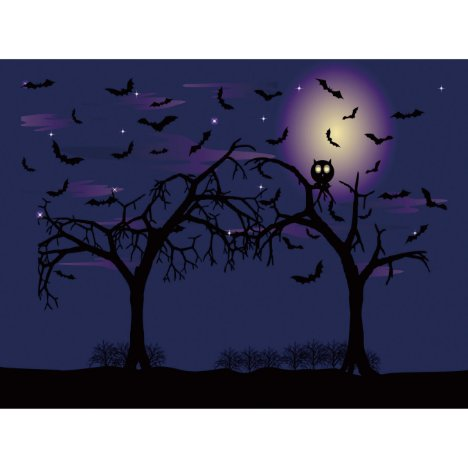 Custom Window Film DIY Halloween Owl Tree Bat I41