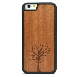 Engraved Rosewood iPhone 6 Case - Rustic Tree