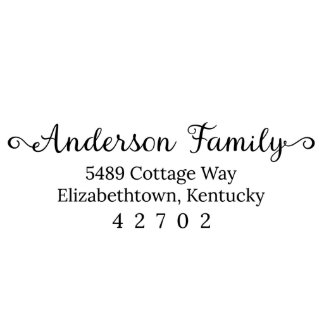 Anderson Family Return Address Stamp