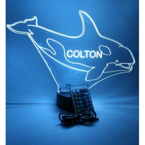 Whale Marine Night Light Up Lamp LED Personalized