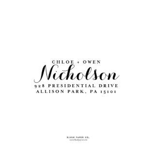 "Self Inking Return Address Stamp ""Nicholson"""