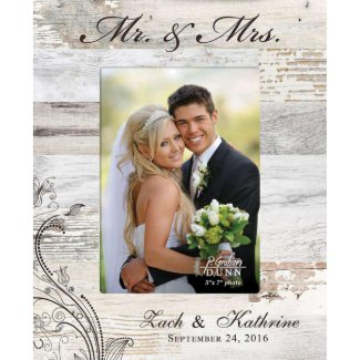 Mr & Mrs Wood Pallet Frame 5x7