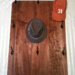 12 Hook / Knob, Wall Mounted Hat Rack / Scarf Rack