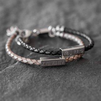 Persoanzlied Braided Leather Bracelet For Men